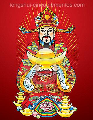 Dios de la Riqueza Cinco Elementos