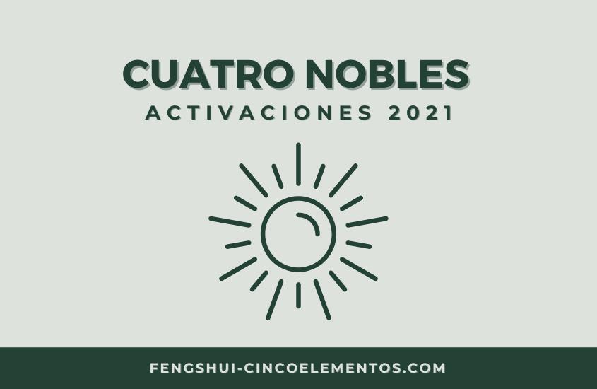 Feng Shui: Cuatro Nobles, Activación 2021